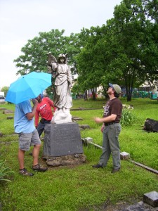A tour of the cemetery with the National Center for Preservation and Technology Training