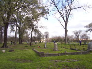Cleaning in the cemetery